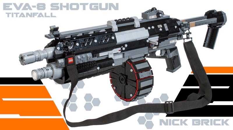 Illustration for article titled Life-Size Lego Titanfall Shotgun