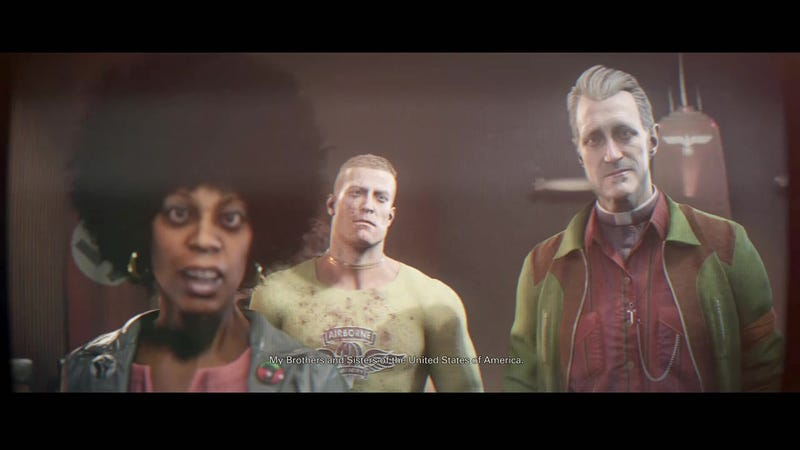 Illustration for article titled Wolfenstein 2: Muddy Ethics, Confused Gameplay, Great Characters