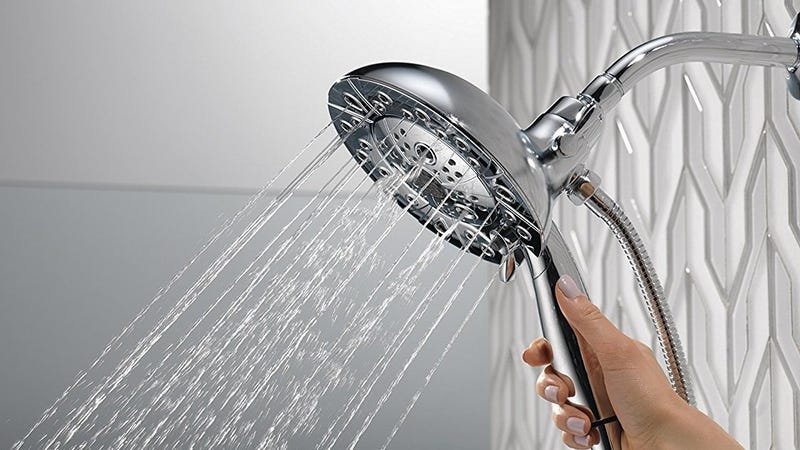 Delta 58480 In2ition H2Okinetic Two-in-One Shower Header | $89 | Amazon
