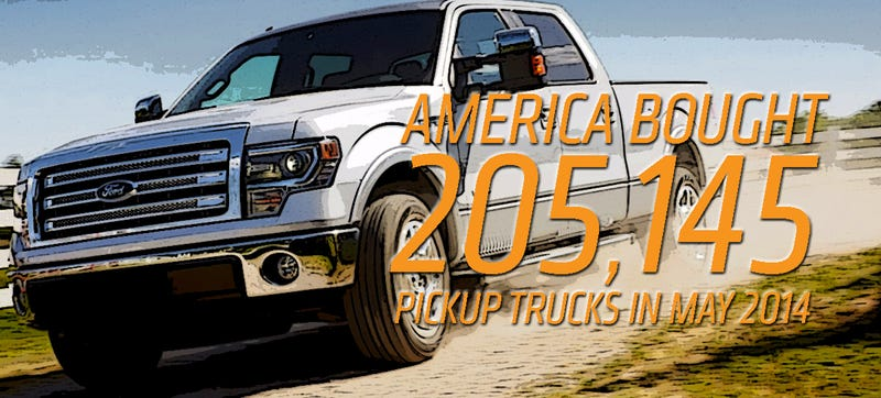 Illustration for article titled Americans Bought 905,165 Pickups in 2014 So Far, 1/3 Of Them Fords