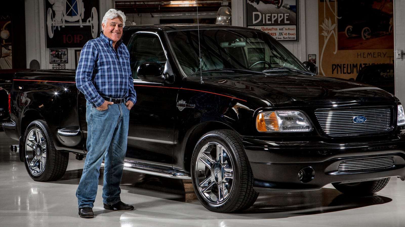 Used F 150 >> Jay Leno Becomes A Used Truck Salesman For The First Ever F-150 Harley Davidson