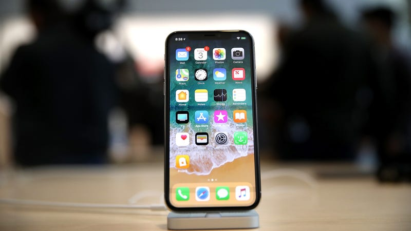 The joy-sucking iPhone X. Photo: Getty