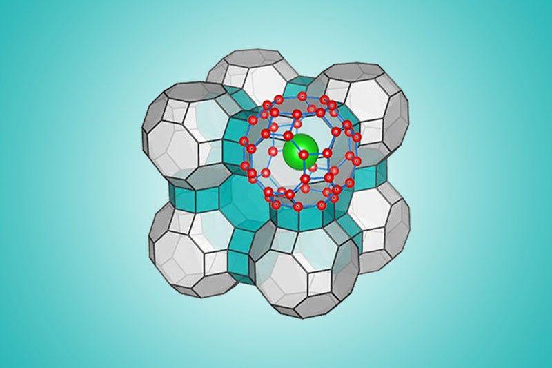 Configuración molecular del hielo hexagonal. Imagen: Yingying Huang y Chongqin Zhu