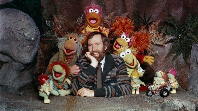 Jim Henson with the Fraggles and Doozers, circa 1985 (Photo: Hulton Archive/Getty Images)