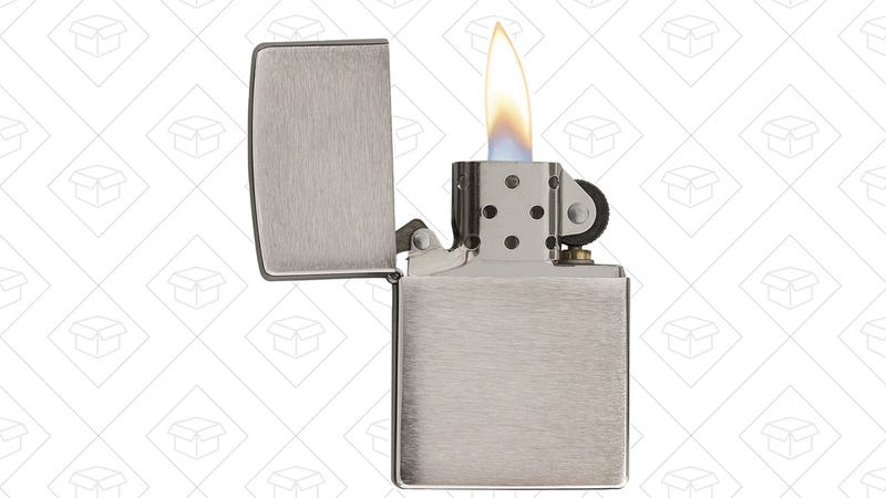 Zippo Brushed Chrome Pocket Lighter, $10