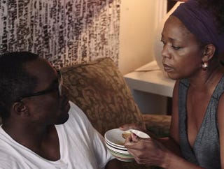 Gbenga Akinnagbe and Alfre Woodard in KnuckleheadBAM.ORG