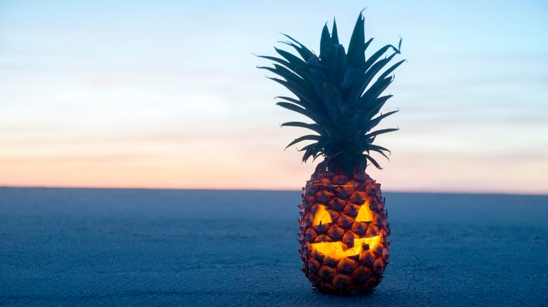 Illustration for article titled Last Call:Who's out here carving pineapple jack-o'-lanterns?