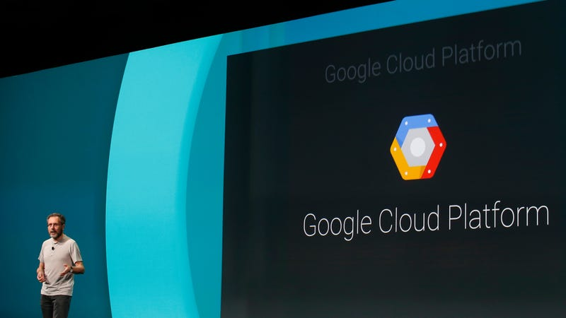 Urs Holzle, Senior Vice President for Technical Infrastructure at Google, speaks on the Google Cloud Platform during the Google I/O Developers Conference