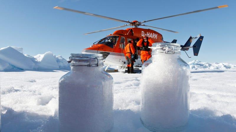 Microplastics Are Airborne, Polluted Arctic Snow Reveals