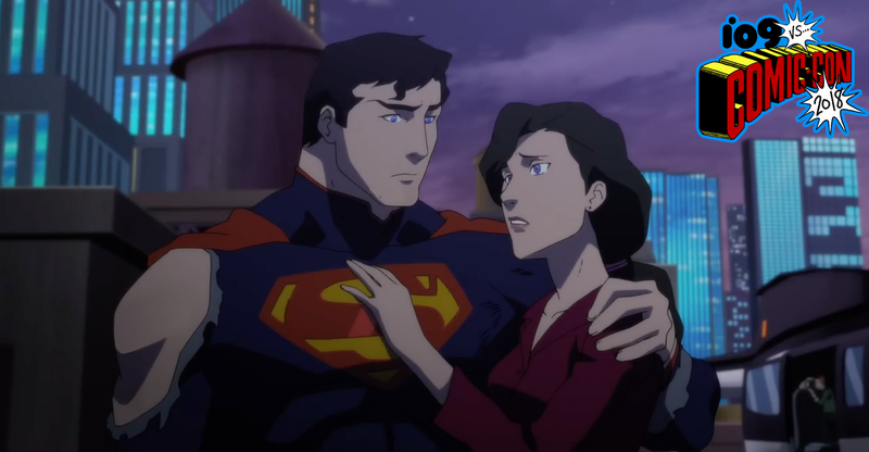 Superman and Lois have a tender moment in the middle of battle.