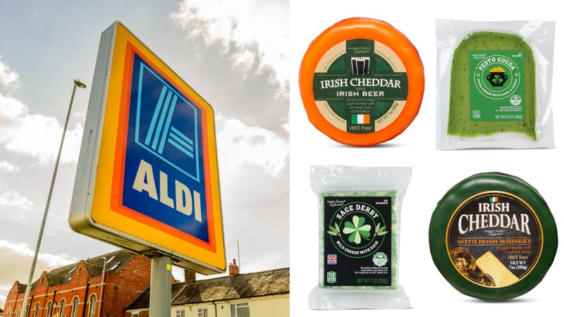 Illustration for article titled Aldi's green and boozy cheeses might just make us tolerate St. Patrick's Day