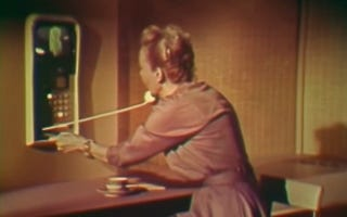 Illustration for article titled 1961 AT&T Film Shows Just How Awkward Videophone Shopping Could've Been