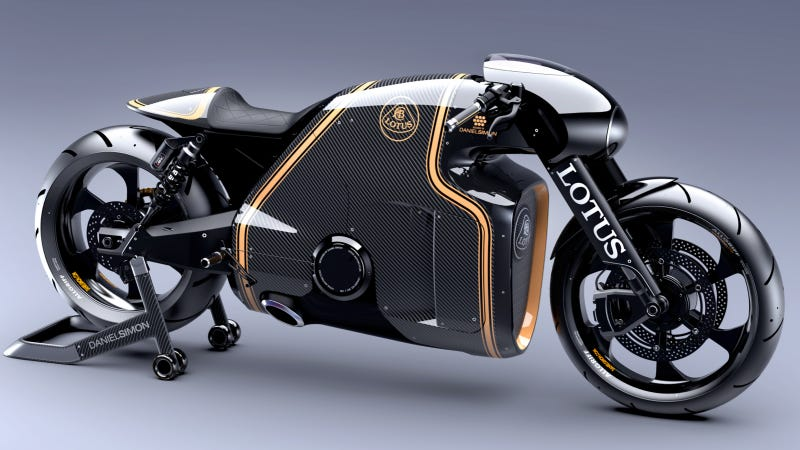 Illustration for article titled The Lotus C-01 Is A Stunner Superbike From The Man Behind Tron: Legacy