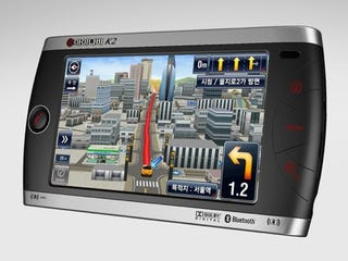 Illustration for article titled Thinkware iNAVI K2 GPS Makes Navigation Look Like a Game