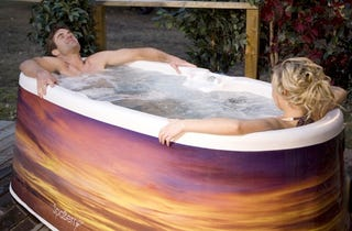 Illustration for article titled Spaberry Portable Hot Tub: A Kiddie Pool In Which Seduction Is Legal