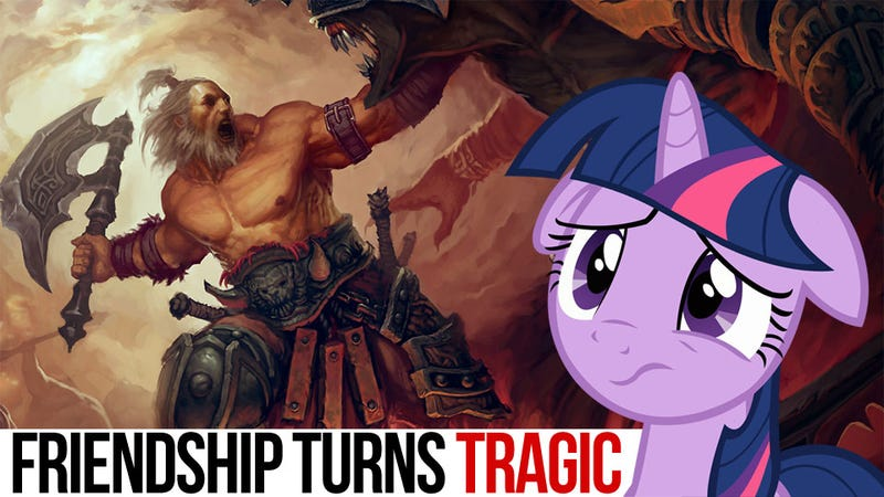 Illustration for article titled Unlikely Fan Fiction Crossover Battles: When Diablo Meets My Little Pony, Horrible Things Happen