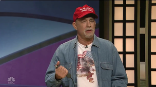 "Tom Hanks as Doug on Saturday Night Live's sketch ""Black Jeopardy""@nbcsnl via Twitter"