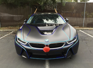 Illustration for article titled Some Hero Put A Rudolph Costume On An i8