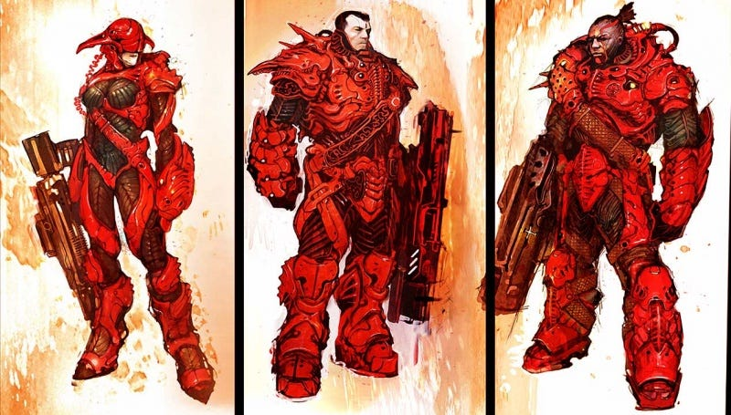Illustration for article titled The awesome power of battlesuit and armor concept art!