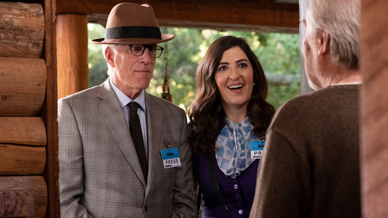 Ted Danson (left) and D'Arcy Carden