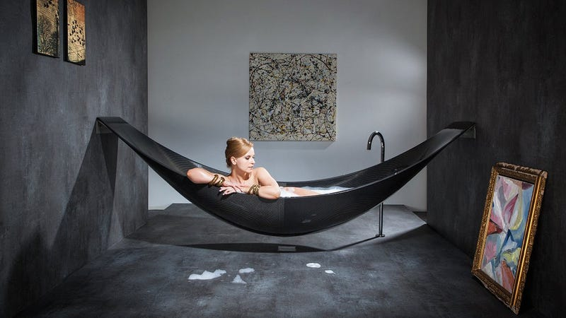 The Eternal Debateu2014of Whether To Soak In The Tub Or Lounge In A Hammocku2014has  Just Been Rendered Moot, Thanks To This Stunning Carbon Fiber Hammock Tub  That ...