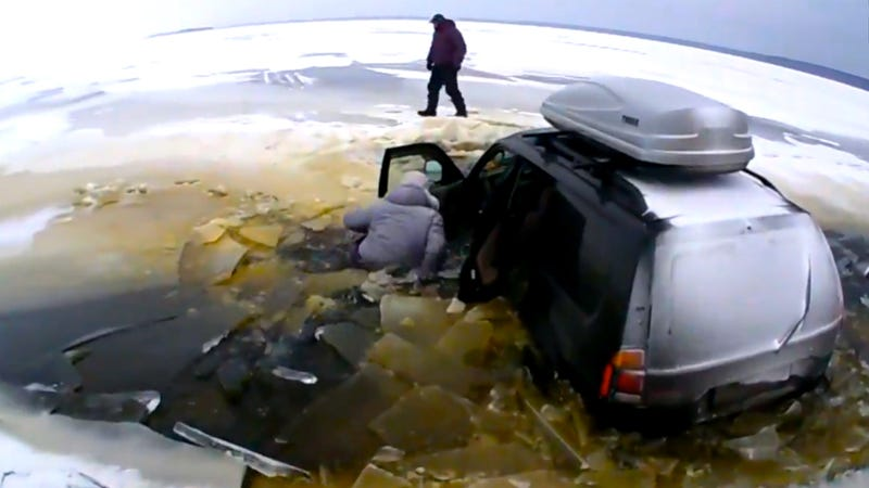 Watch A LakeCrossing Gone Wrong Leave This Dude Naked And SansCar