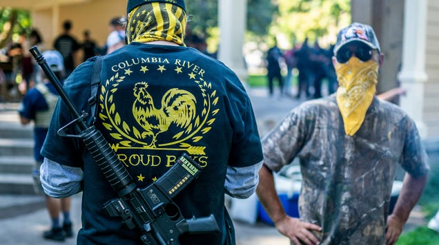 Stand Back and Stand By  Already Selling on Extremist Proud Boys T-Shirts, Thanks to Trump