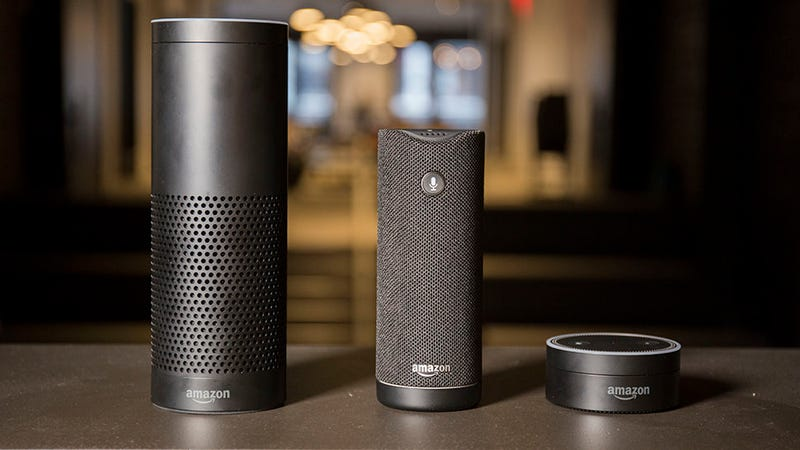 Amazon Echo, $140 | Amazon Tap, $90 | Amazon Echo Dot, $40