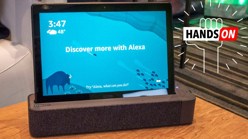 Illustration for article titled Lenovo's Cheap Android Tablets Double as Alexa Speakers
