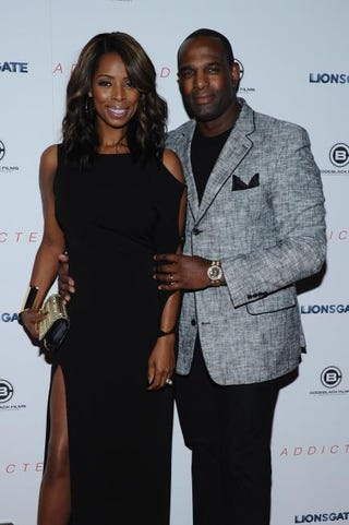 Tasha Smith and Keith Douglas attend the New York City premiere of Addicted at the Regal Union Square on Oct. 8, 2014. Ilya S. Savenok/Getty Images