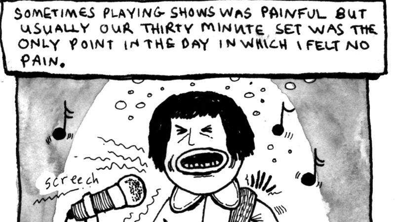 Illustration for article titled Screaming Females' Marissa Paternoster drew a comic about her mysterious illness
