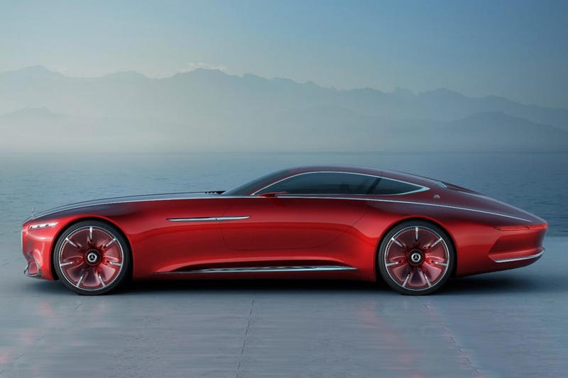 Illustration for article titled The VisionMercedes-Maybach 6 Is A Massive Gullwing Luxury Spaceship