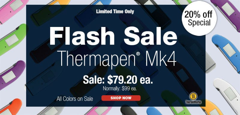 ThermoWorks Thermapen Mk4   $79   ThermoWorksGráfico: Shep McAllister