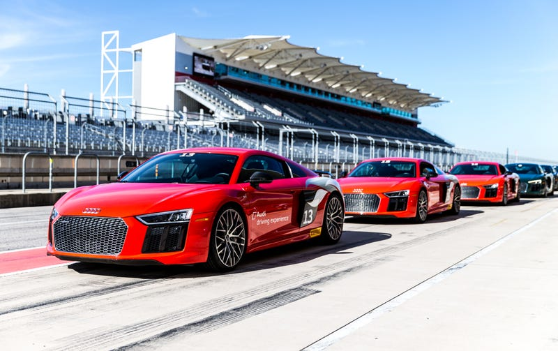 the audi driving experience lets you blast around an f1 track in someone else 39 s r8. Black Bedroom Furniture Sets. Home Design Ideas