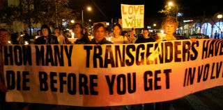 Transgender Day of Remembrance in West Hollywood, Calif. (Hector Mata/AFP/Getty Images)