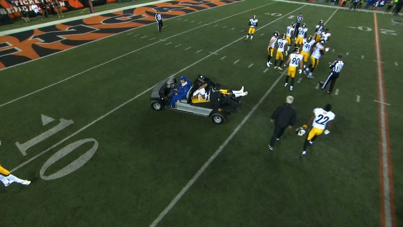 Vontaze Burfict Stretchered Off Field After DIRTY Block From JuJu Smith-Schuster