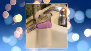 Turn a Shampoo Bottle into an Over-the-Sink Sponge Holder