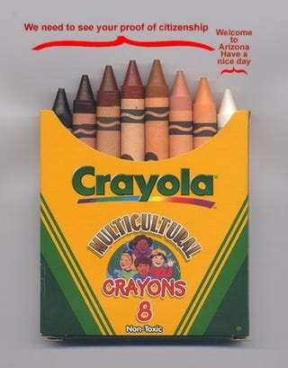 Illustration for article titled Color Me Bad: The Arizona Law In Crayons