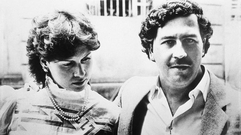 Pablo Escobar and his wife Maria Victoria in 1983