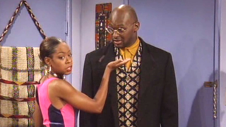 Thomas Mikal Ford (Tommy) and Tichina Arnold (Pam) in a scene from MartinYouTube Screenshot