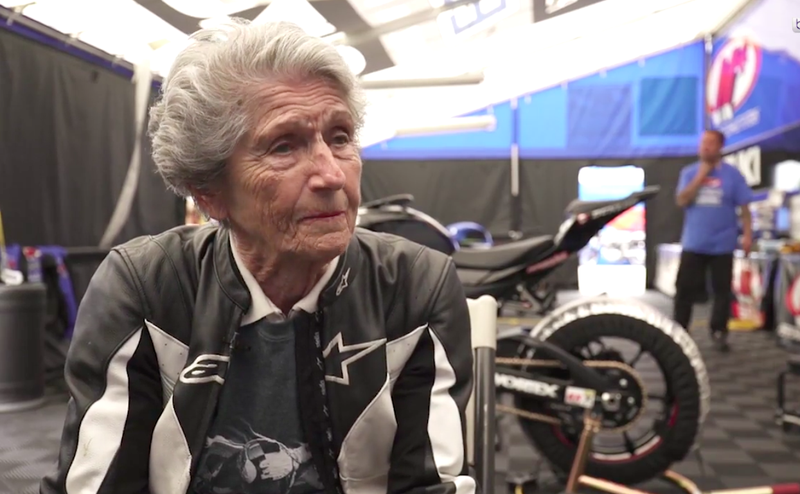 My New 91-Year-Old Hero Rode Over 100 MPH On The Back Of A MotoAmerica Bike