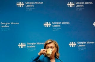 Illustration for article titled Clinton Takes A Caffeine Break