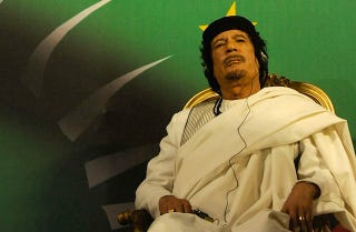 Illustration for article titled Qaddafi Says Surrendering Is For Chicks