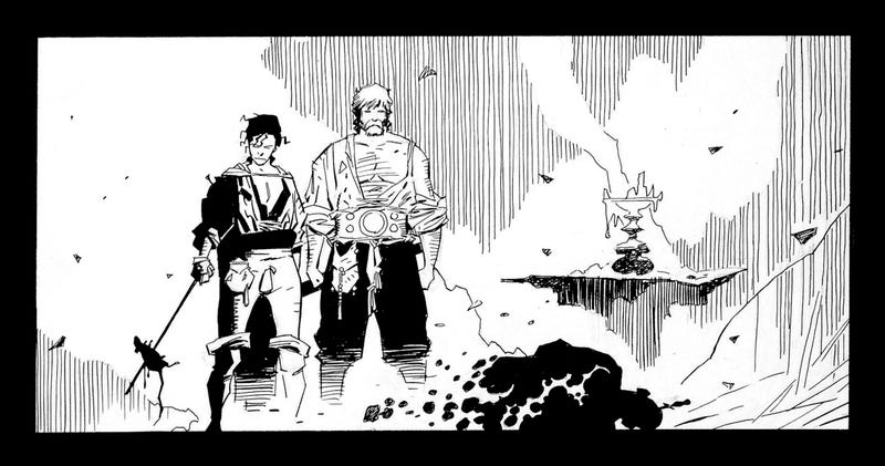 Fafhrd and the Gray Mouser, pencils by Mike Mignola and inks by Al WIlliamson.