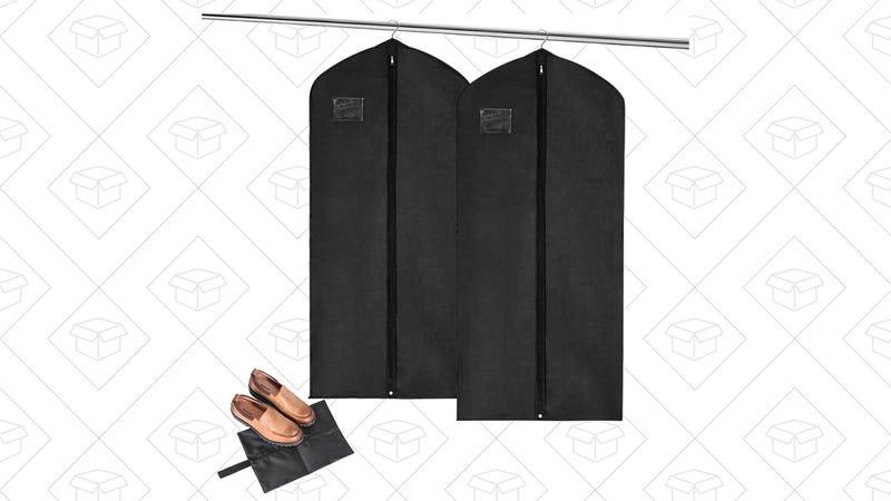 Garment Bags with Shoe Bag | $9 | Amazon | with code SWOLYOQG