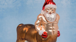 Illustration for article titled This Santa-Centaur Christmas Decoration will Haunt your Nightmares
