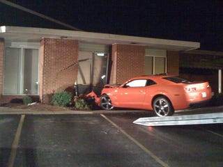 Illustration for article titled Man Celebrates Camaro SS Delivery By Crashing, Going To Jail