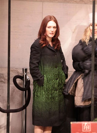 Illustration for article titled Julianne Moore: Coat Of (Dubious) Charms