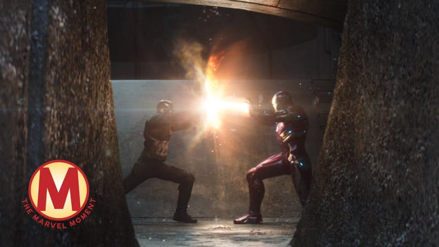 Captain America fights Iron Man, and the MCU for once gets a painfully personal climax