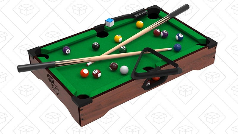 Channel Your Inner Pool Shark With This $16 Tabletop Pool Set